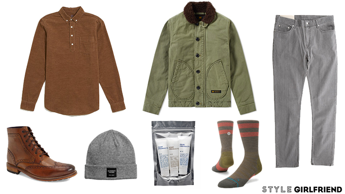 ski weekend outfit for guys