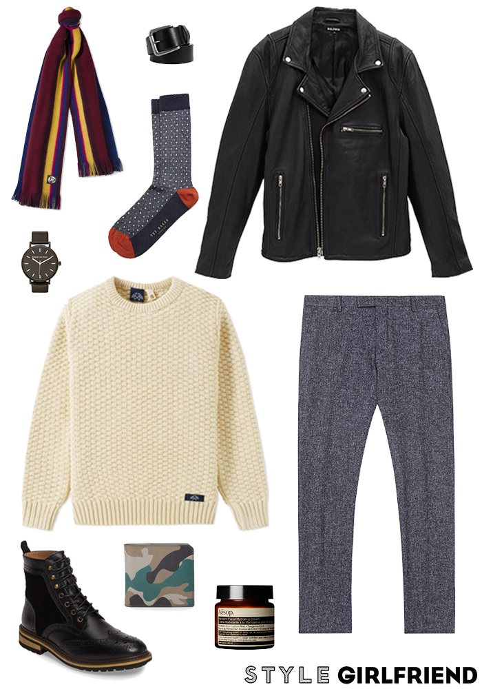 winter date night outfit for guys
