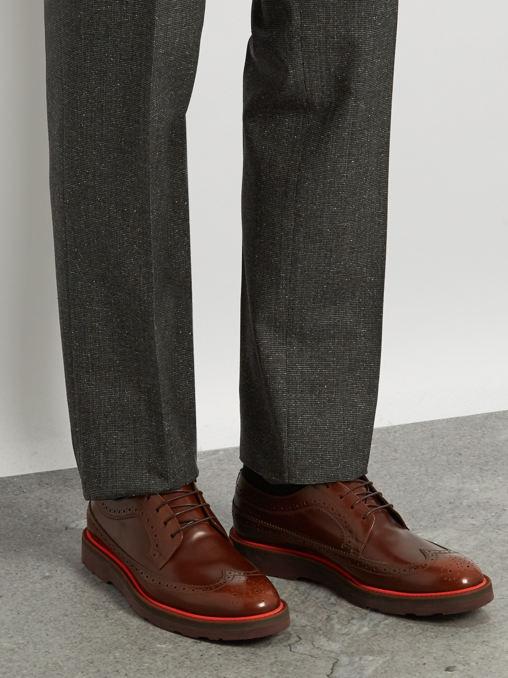 contrast sole shoes, paul smith, matches fashion