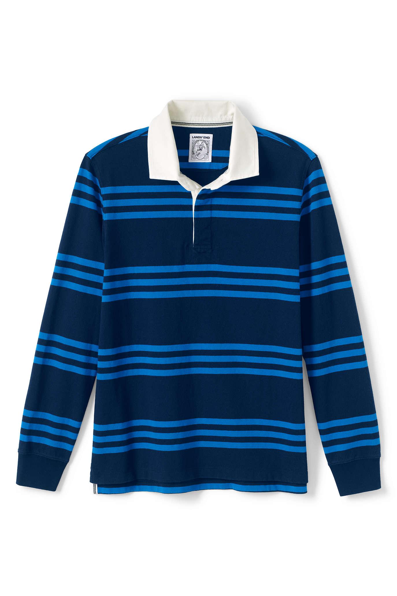 best men's fall style ll bean rugby shirt