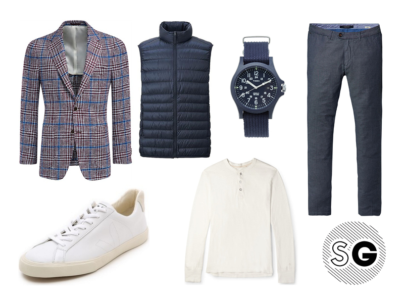 checked blazer, suit supply, sport coat, statement, uniqlo, timex, scotch & soda, veja, rag & bone,