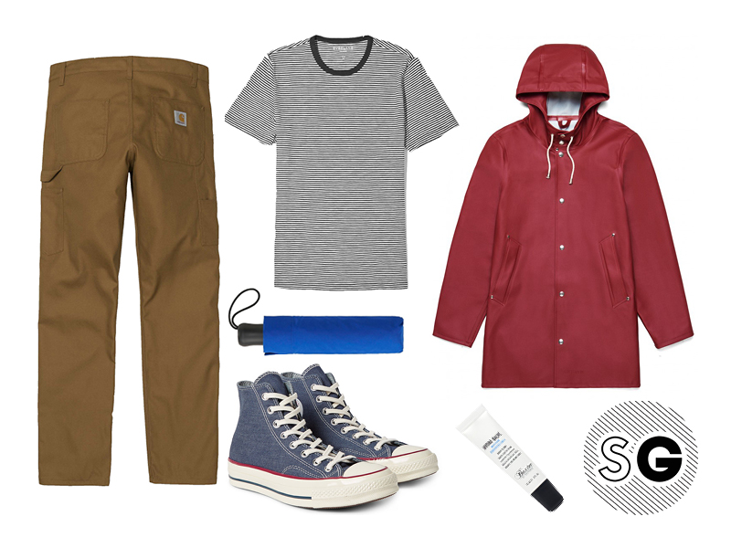 what to wear with workwear pants