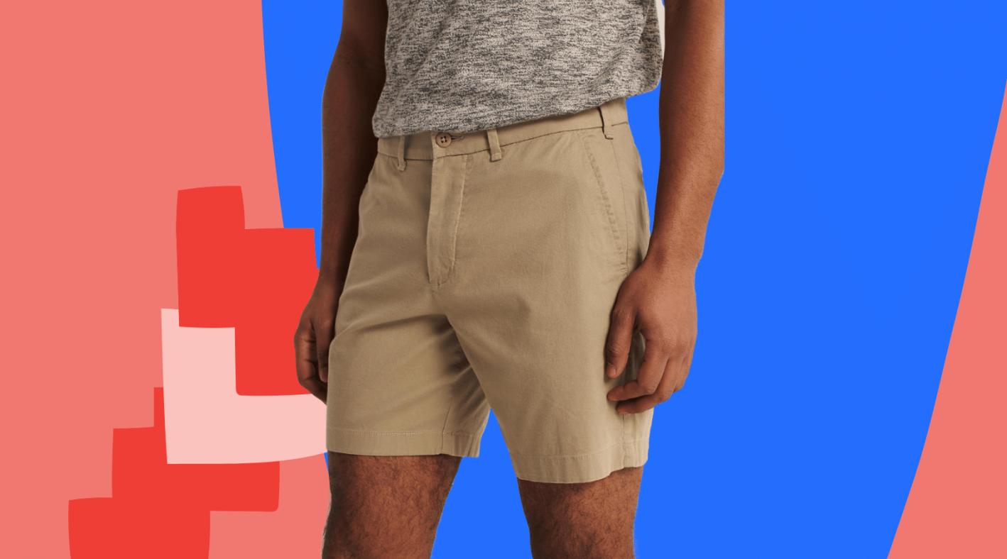 abercrombie and fitch khaki chino shorts