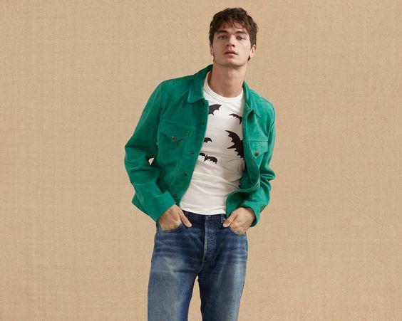 suede jacket, trucker jacket, levi's, suede, outerwear, spring