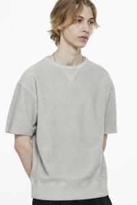 short sleeve sweatshirt, saturdays nyc, spring, layer