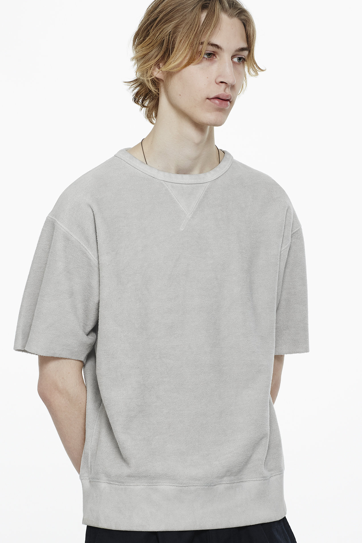 short sleeve sweatshirt, saturdays nyc, spring, layer