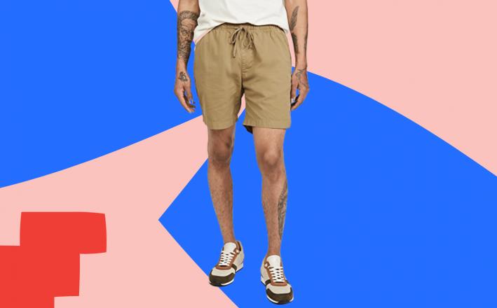 save khaki twill shorts