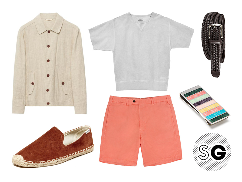 spring, summer, short sleeve sweatshirt, shorts, soludos, sid masburn, gant, linen, uniqlo, paul smith