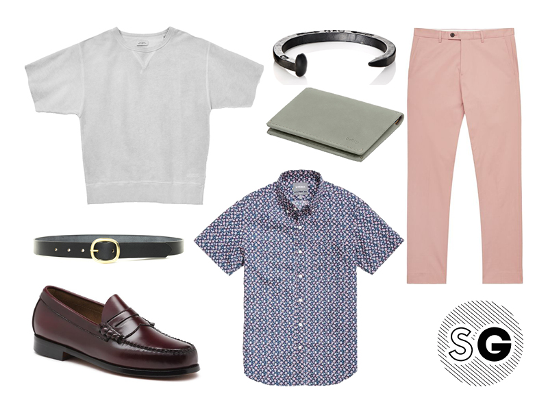 short sleeve sweatshirt, saturdays nyc, reiss, bonobos, bass, giles & brother, bellroy