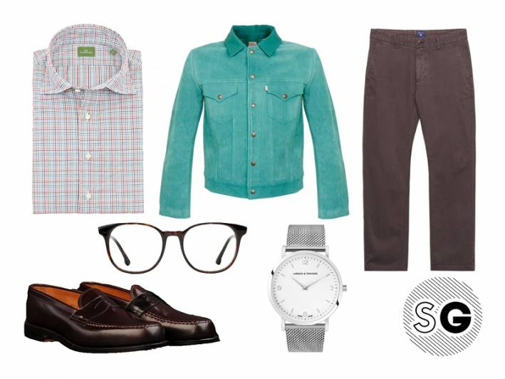suede jacket, suede, outerwear, sid mashburn, alden, steven alan, larsson & jennings, gant, levi's