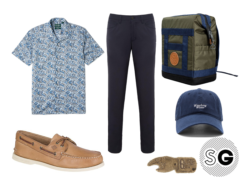 tech pants, gitman vintage, sperry topsider, united by blue, picnic, kapital, john elliot