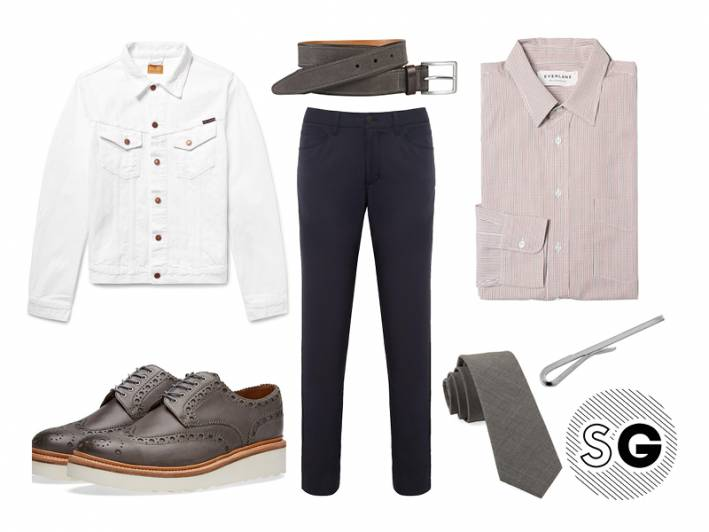 tech pants, office style, work, theory, grenson, david donahue, the tie bar, everlane, johnston & murphy