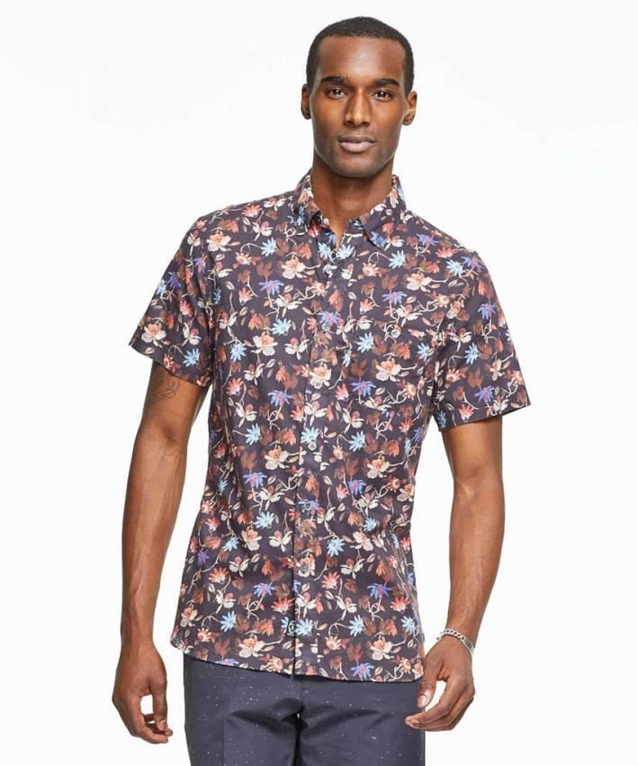 todd snyder, silk shirt, short sleeve, floral, summer, warm weather