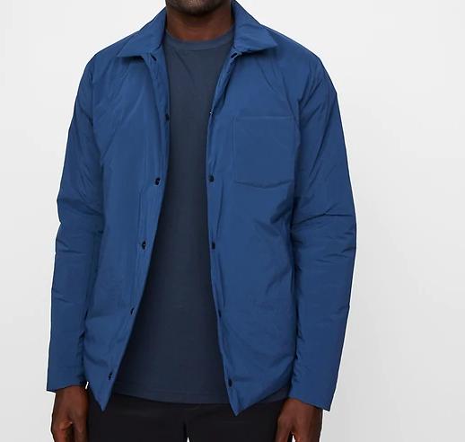 hill city thermal shirt jacket blue