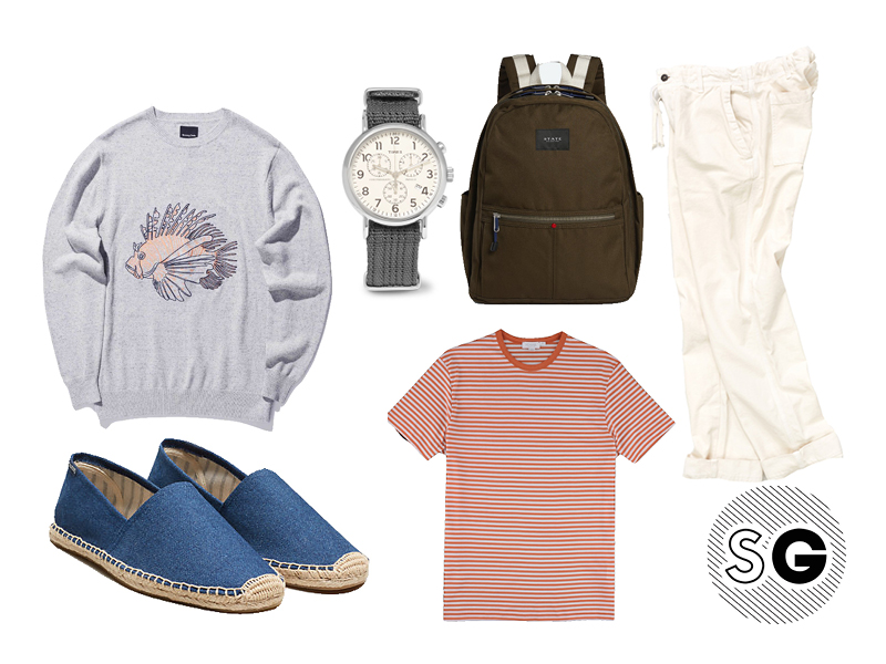 espadrilles, barney cools, soludos, jack spade, sunspel, state bags, timex, save khaki