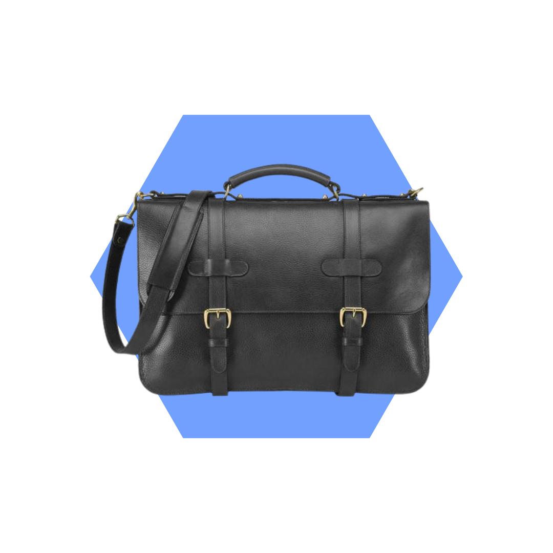 men's leather briefcase, men's wardrobe essentials for your 40s