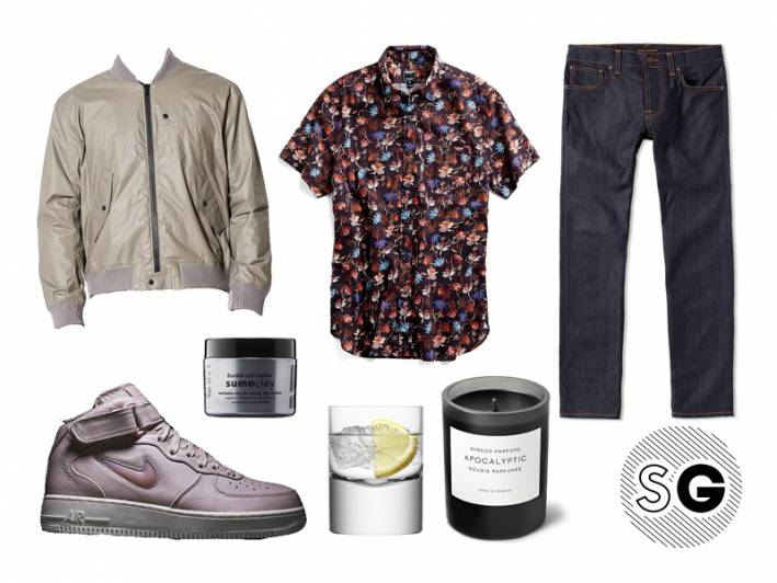 todd snyder, silk shirt, harry styles silk shirt, bruno mars silk shirt, byredo, nikelab, kith, nudie jeans, steven alan, lsa, bumble + bumble, party at home, night in