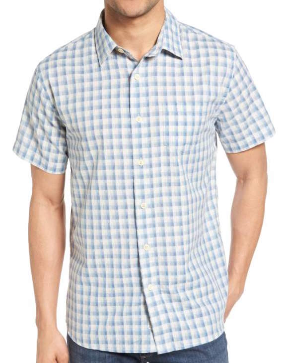 Grayers gingham print button down, what women want