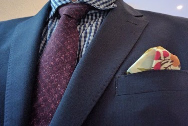 real guy style, pocket square