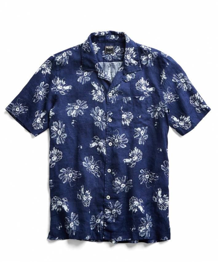 todd snyder floral camp collar shirt