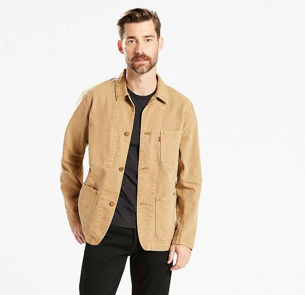 chore coat, engineer's coat, levi's, layers
