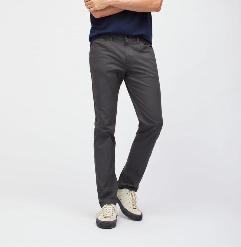 bonobos 5-pocket grey pants