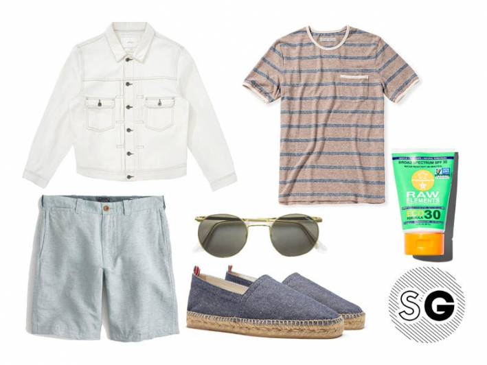 linen shorts, saturdays nyc, outerknown, castañer, randolph, raw elements, beach outfit