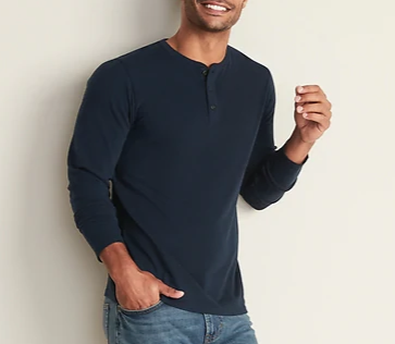 old navy blue henley