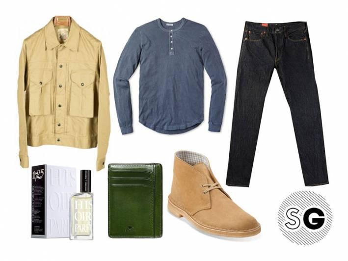 summer henley, henley, date night, il bussetto, monitaly, unionmade goods, clarks, desert boot, levi's, jeans, buck mason