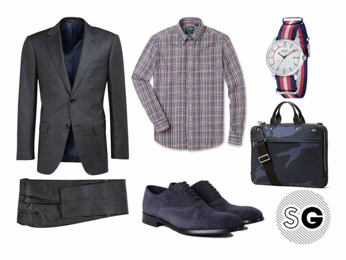 charcoal suit, suit supply, avi-8, work, jack spade, paul smith