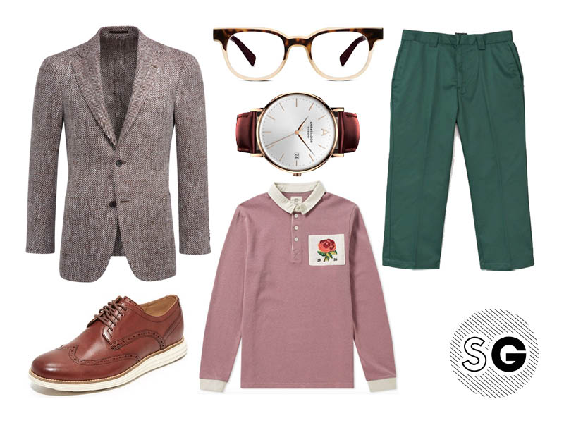 rugby shirt, suit supply, stussy, cole haan, ambassador, warby parker, kent & Curwen