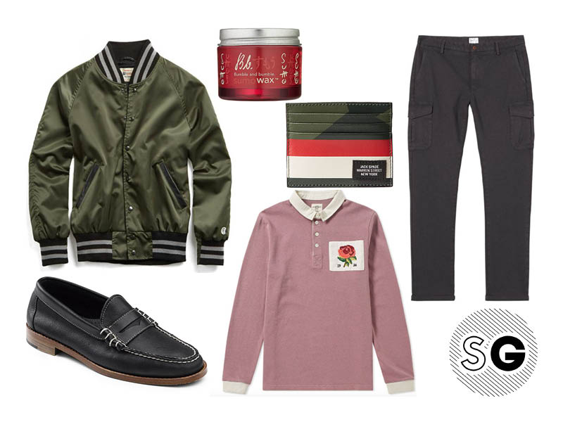 kent & curwen, rugby shirt, gant, jack spade, sumowax, bumble + bumble, bass, todd snyder