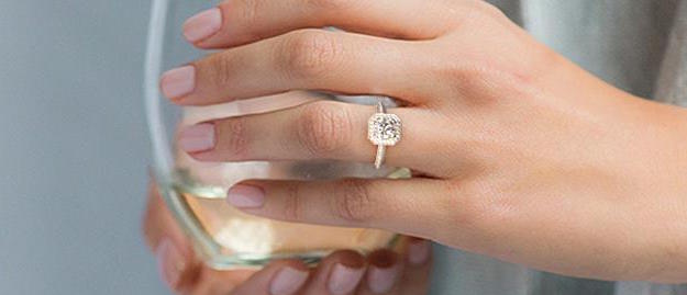 engagement ring for a stylish bride
