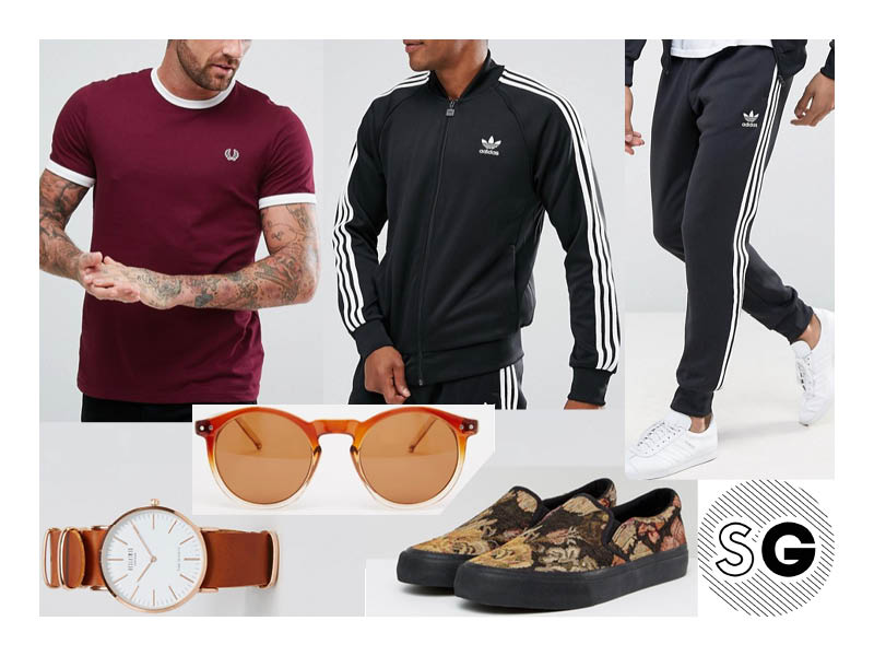 asos, slip-ons, adidas, tracksuit, class style, college style
