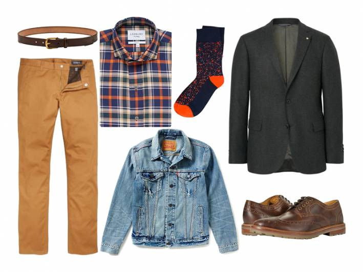 denim jacket, light wash denim jacket, gant, levi's, ledbury, bonobos, pair of thieves, florsheim, maximum henry
