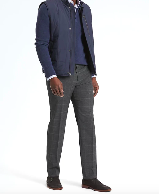 banana republic windowpane dress pants