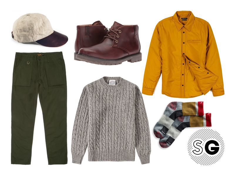 welcome stranger, benny gold, cable knit sweater, l.l. bean, dunham, taylor stitch