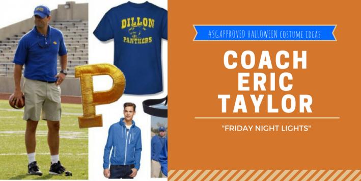 last-minute halloween costume ideas, coach taylor, friday night lights
