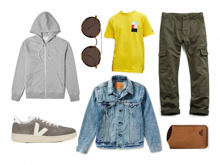 light wash denim jackets, levi's, everlane, todd snyder, veja, illesteva, ezra arthur, know wave