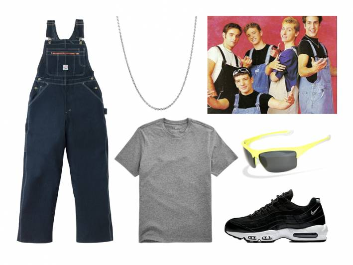 backstreet boys, n*sync, 98 degrees, 90s, boy band, overalls, halloween, costume ideas, halloween costume