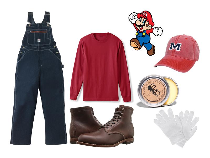overalls, halloween, halloween costume, costume ideas, mario