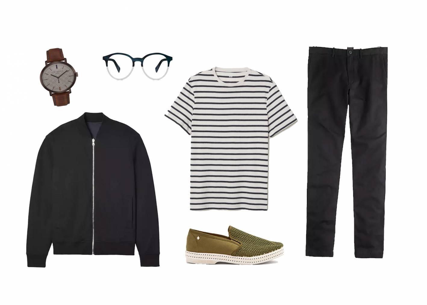 how to wear a striped shirt casual look