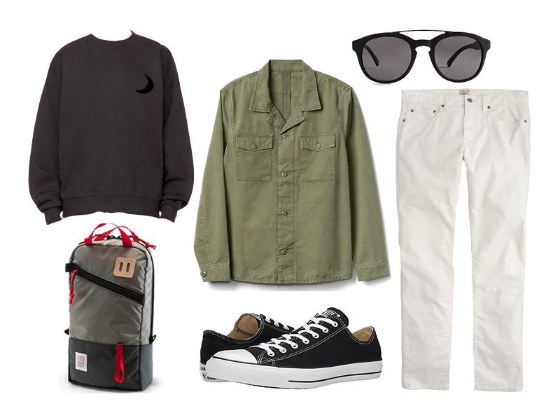 winter white cords, gap, converse, levi's vintage, j.crew, topo designs
