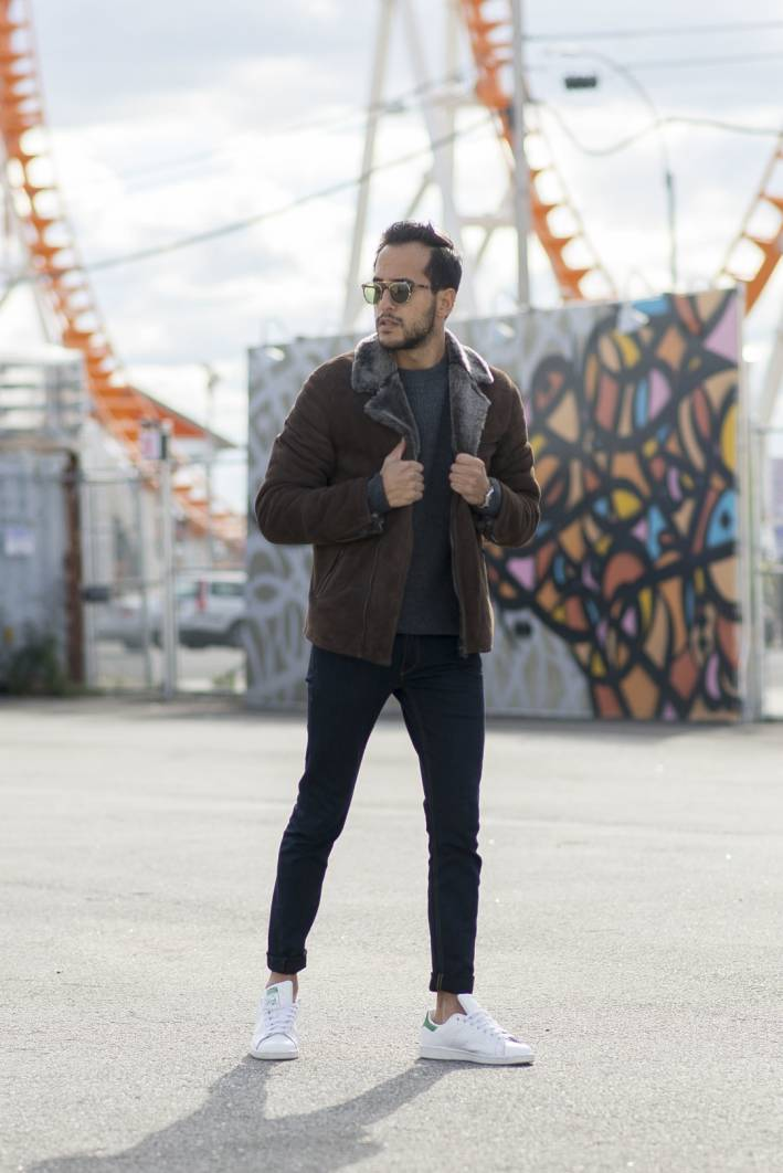 moti ankari how to wear a shearling jacket