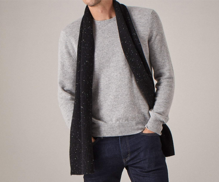 naadam ribbed cashmere scarf