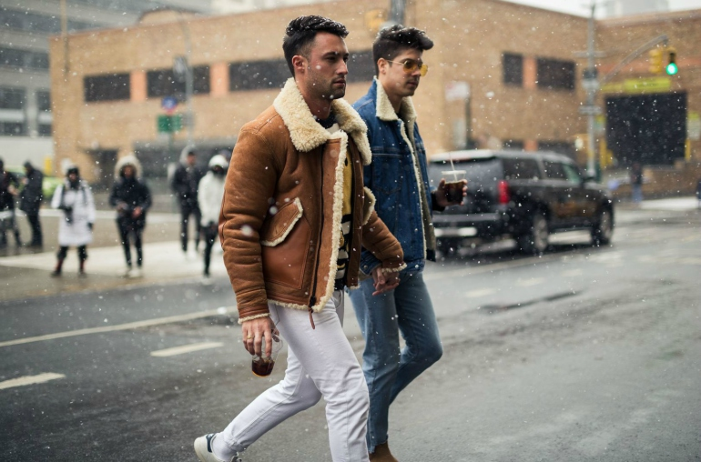 yummertime how to wear a shearling jacket
