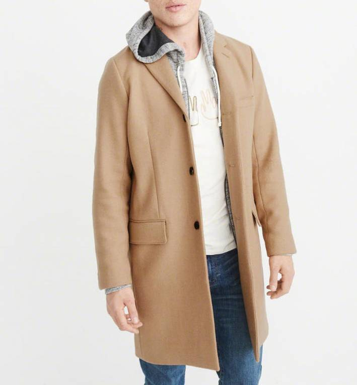 abercrombie fitch topcoat