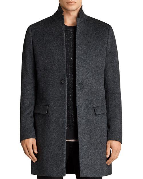 allsaints wool topcoat