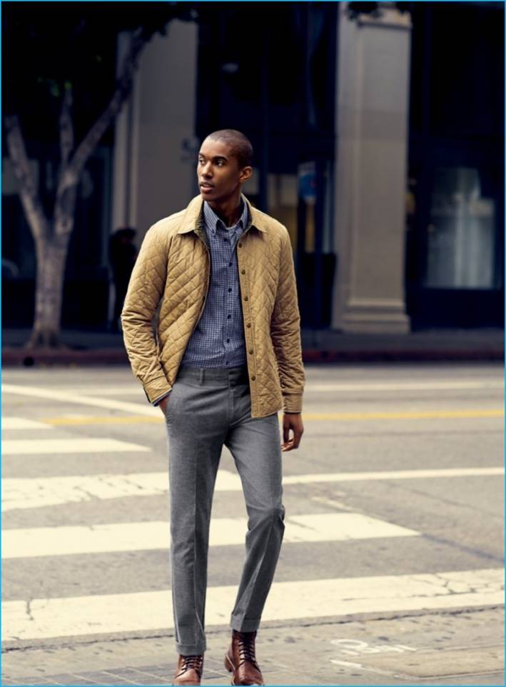 casual jacket with dress pants
