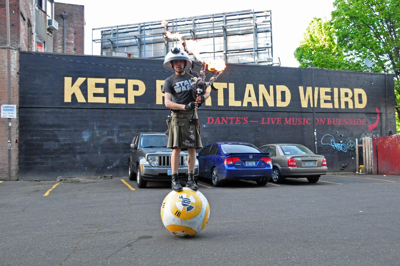 keep portland weird wall